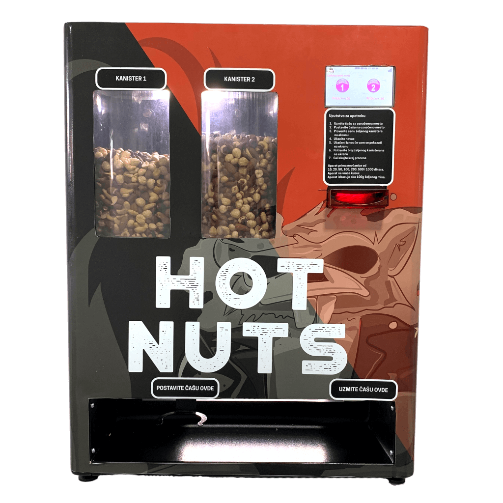 Hot nuts vending machine